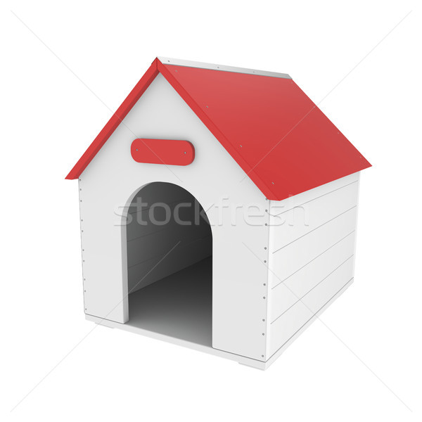 Doghouse on white Stock photo © magraphics
