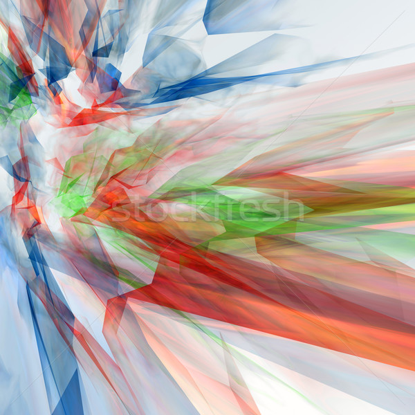 Abstract 3D technologie web groene Blauw Stockfoto © magraphics