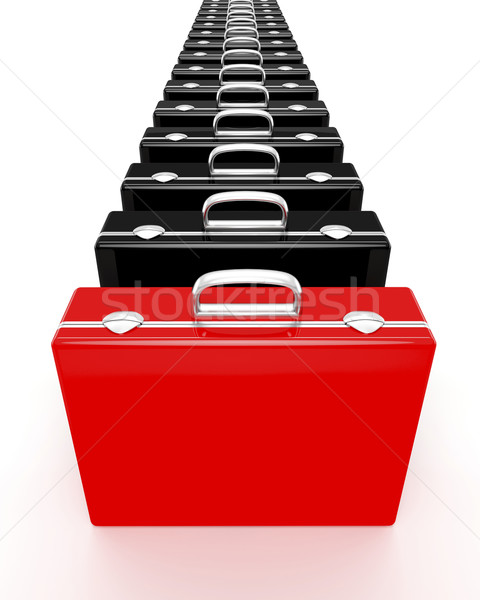 Unique red briefcase Stock photo © magraphics