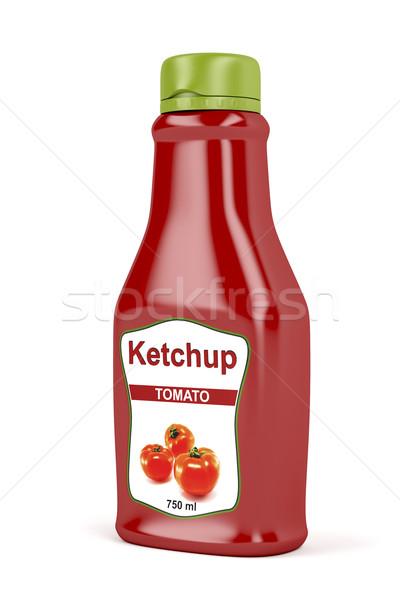 Ketchup bottiglia bianco plastica veloce contenitore Foto d'archivio © magraphics