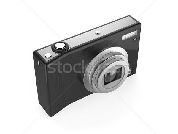Digitális fényképezőgép izolált fehér fém videó digitális Stock fotó © magraphics