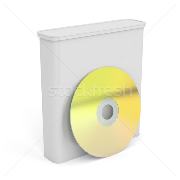 プラスチック ボックス ディスク 白 ソフトウェア ストックフォト © magraphics