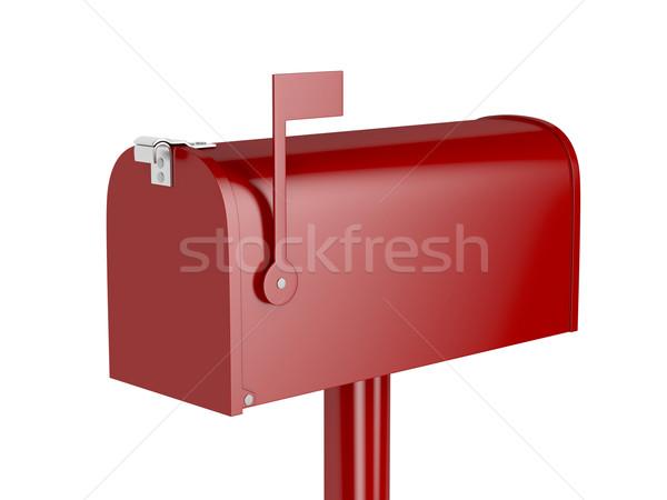 赤 メールボックス 孤立した 白 メール フラグ ストックフォト © magraphics