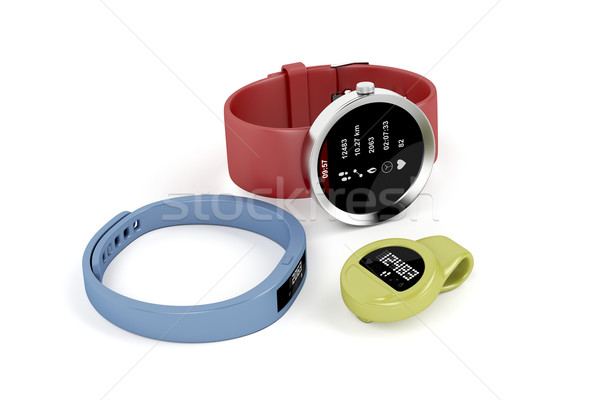 Smartwatch and activity trackers Stock photo © magraphics