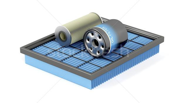 Ingesteld automotive lucht olie benzine auto Stockfoto © magraphics