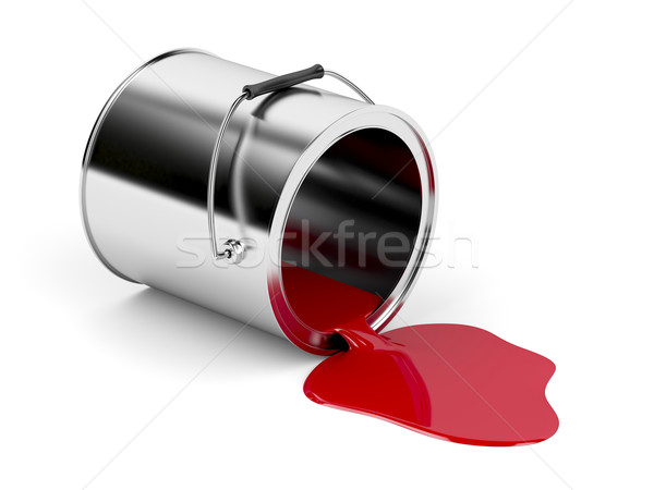 Red spilled paint Stock photo © magraphics