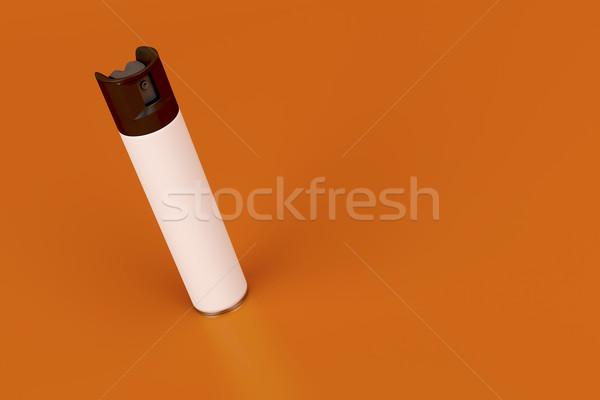 Aerosol sprey beyaz can turuncu şişe Stok fotoğraf © magraphics