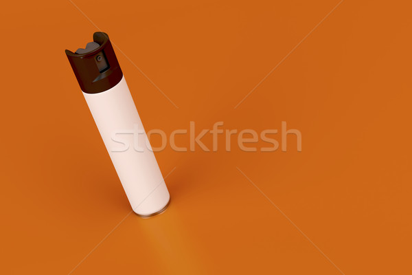 Aerossol spray branco lata laranja garrafa Foto stock © magraphics