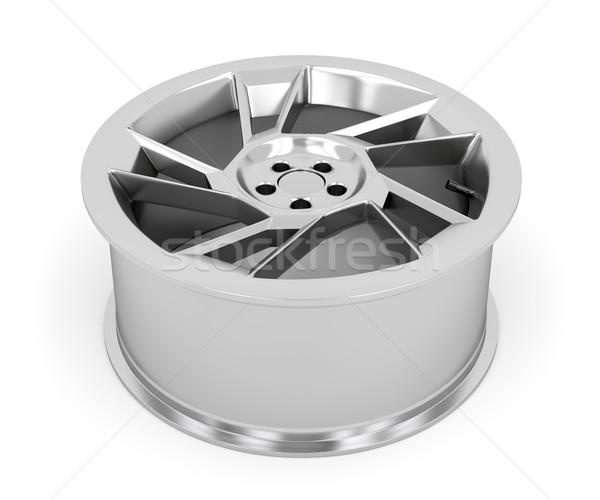 Aleación coche blanco auto neumático Foto stock © magraphics