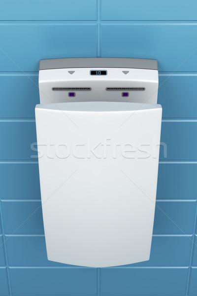 à grande vitesse main vertical public toilettes mur Photo stock © magraphics