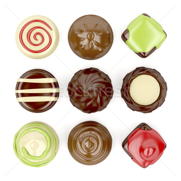 Selection of chocolate candies Stock photo © magraphics