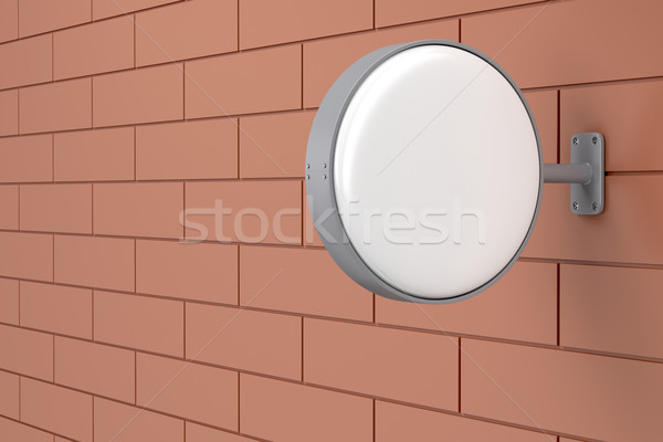 Blank signboard on the wall Stock photo © magraphics