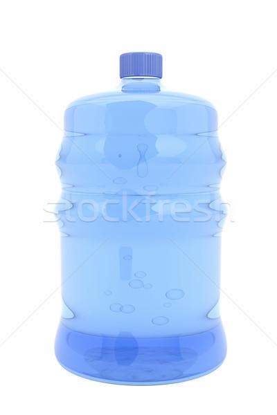 água mineral grande garrafa isolado branco azul Foto stock © magraphics
