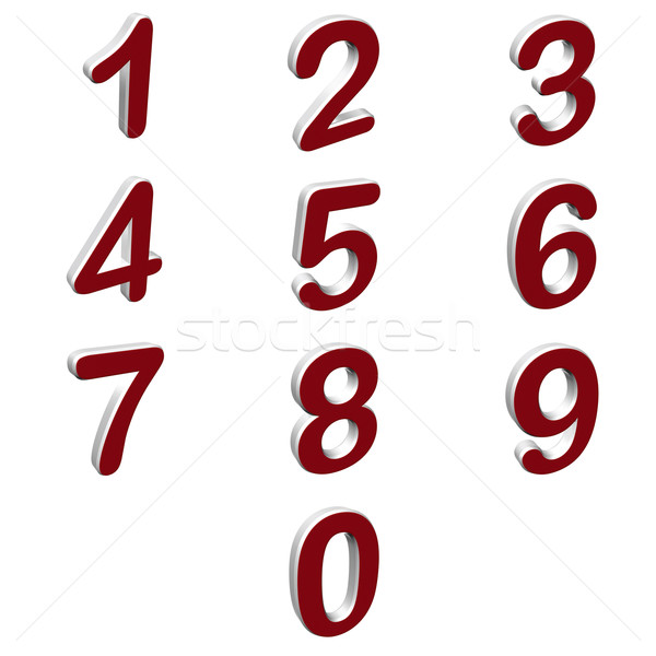 Numbers Stock photo © magraphics