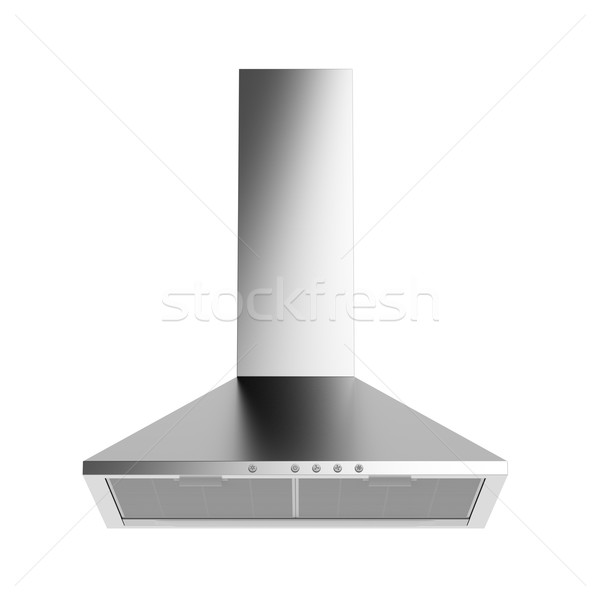 Silver cooker hood Stock photo © magraphics
