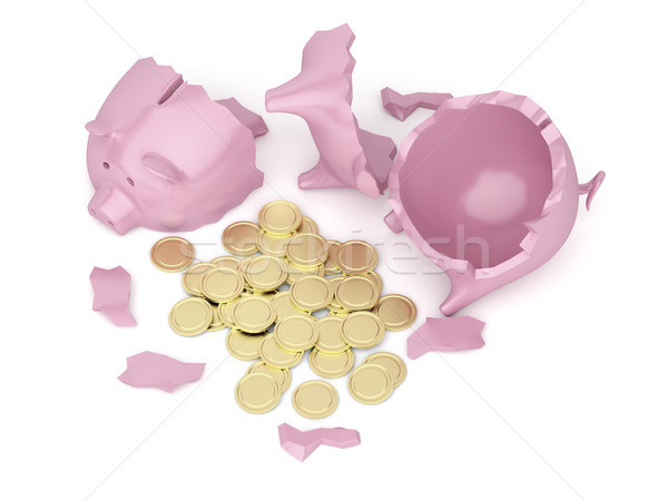 Broken piggy bank Stock photo © magraphics