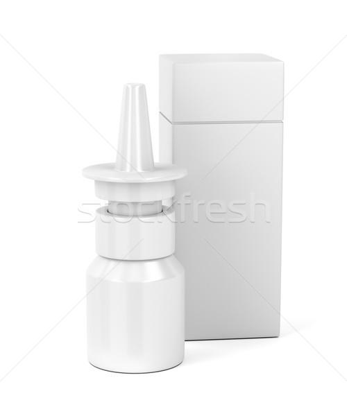 Fehér spray üveg műanyag doboz orvosi Stock fotó © magraphics