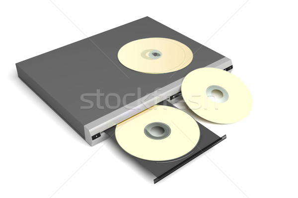 Disc player with golden discs Stock photo © magraphics