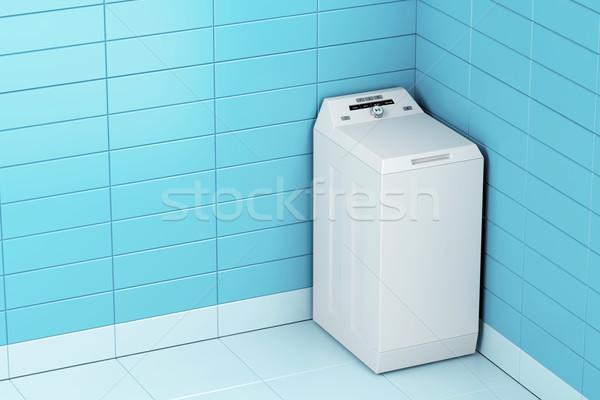 Wasmachine top laden badkamer machine witte Stockfoto © magraphics