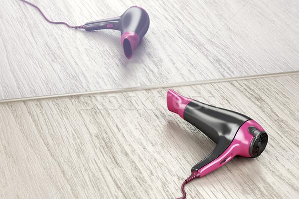 Modern hair dryer Stock photo © magraphics