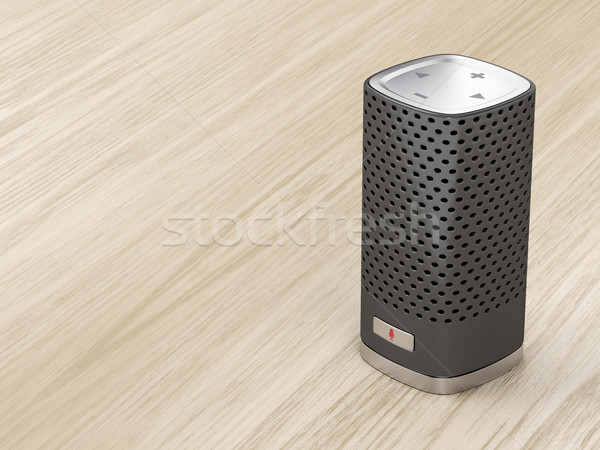 Black smart speaker Stock photo © magraphics