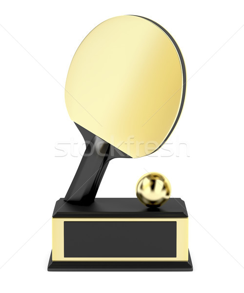 Gold table tennis trophy Stock photo © magraphics