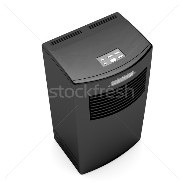 Black mobile air conditioner Stock photo © magraphics