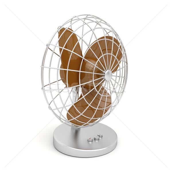 Ventilator 3D afbeelding geïsoleerd witte ontwerp Stockfoto © magraphics