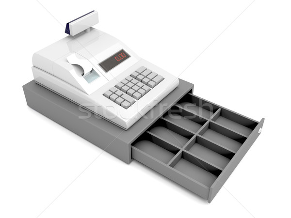 Cash register without money Stock photo © magraphics