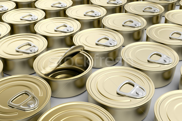 Tin cans Stock photo © magraphics