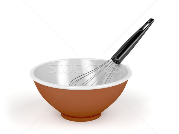 Bowl and balloon whisk Stock photo © magraphics