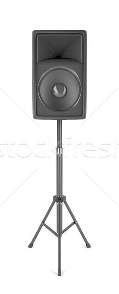 Nagy színpad hangszóró áll fehér zene Stock fotó © magraphics