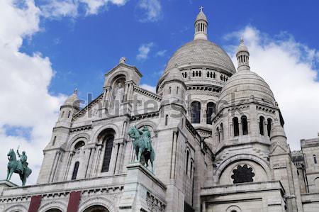 Bazylika Paryż Francja serca kościoła Europie Zdjęcia stock © magraphics