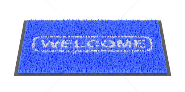 Welcome doormat on white Stock photo © magraphics