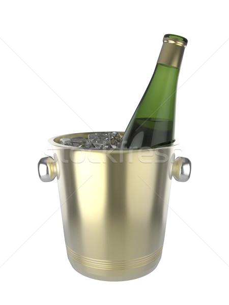 ワイン 氷 バケット ボトル パーティ ドリンク ストックフォト © magraphics