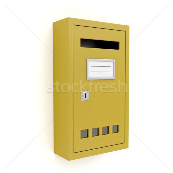 Yellow mailbox Stock photo © magraphics
