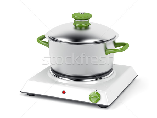 Hot plate and cooking pot Stock photo © magraphics
