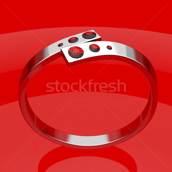 Silver ruby ring Stock photo © magraphics