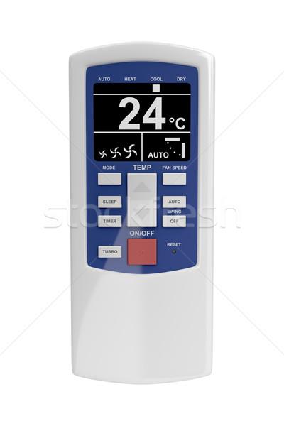Télécommande climatiseur isolé blanche clé bouton Photo stock © magraphics