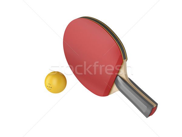 Ping pong racket and ball Stock photo © magraphics