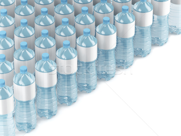 Plastic water bottles with blank labels Stock photo © magraphics
