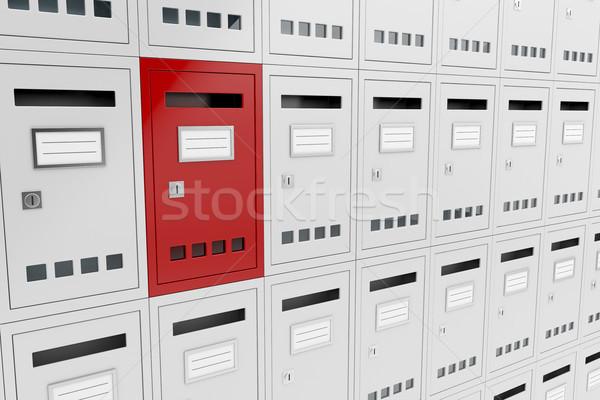 Unico immagine uno diverso business mail Foto d'archivio © magraphics