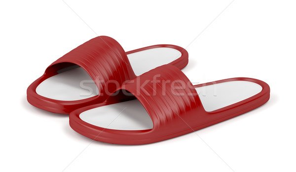 Red slippers Stock photo © magraphics