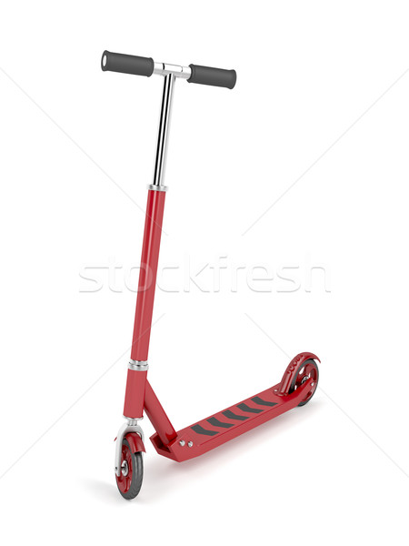 Red kick scooter Stock photo © magraphics