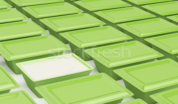 Green plastic containers Stock photo © magraphics