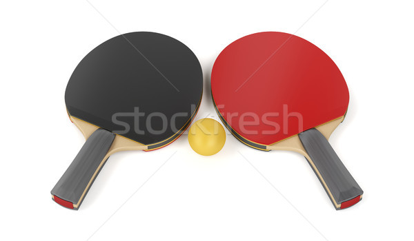 Table tennis rackets and a ball Stock photo © magraphics