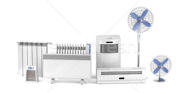 Heating and cooling electric devices Stock photo © magraphics