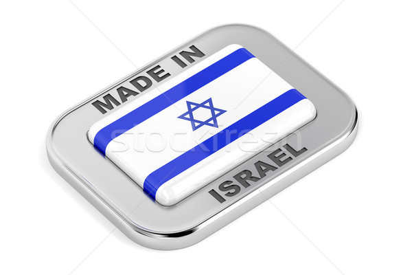 Israel distintivo branco assinar botão etiqueta Foto stock © magraphics