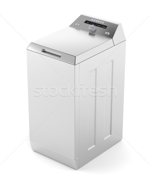 Silver top load washing machine Stock photo © magraphics