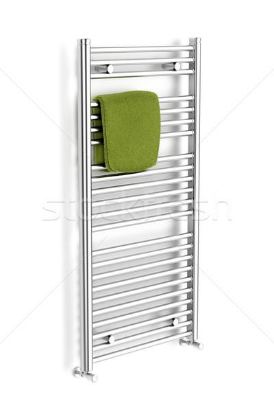Cromo toalha radiador branco banho pano Foto stock © magraphics